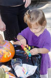 Aurora painting pumpkin